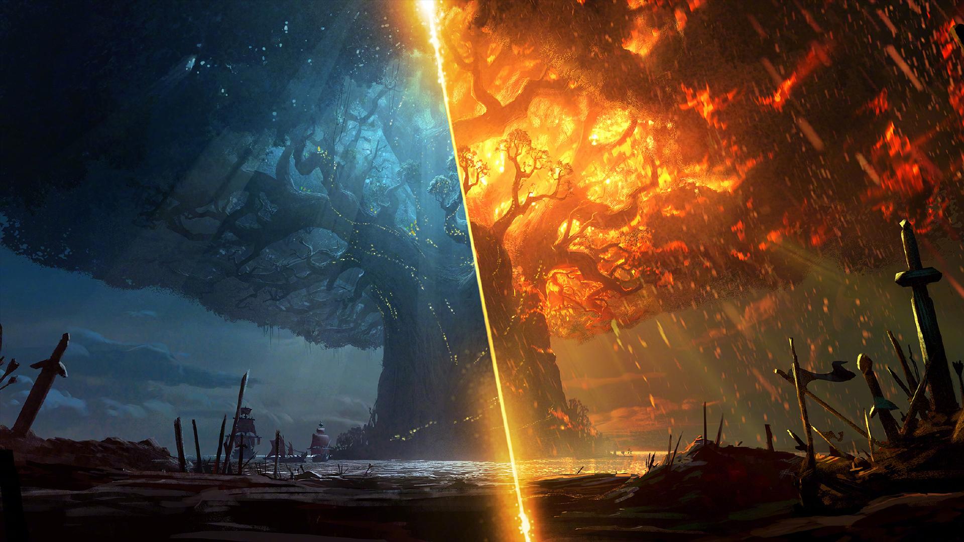 魔兽争霸3主题_《魔兽世界》8.0争霸艾泽拉斯官方主题壁纸图片_桌面壁纸_mm4000 ...