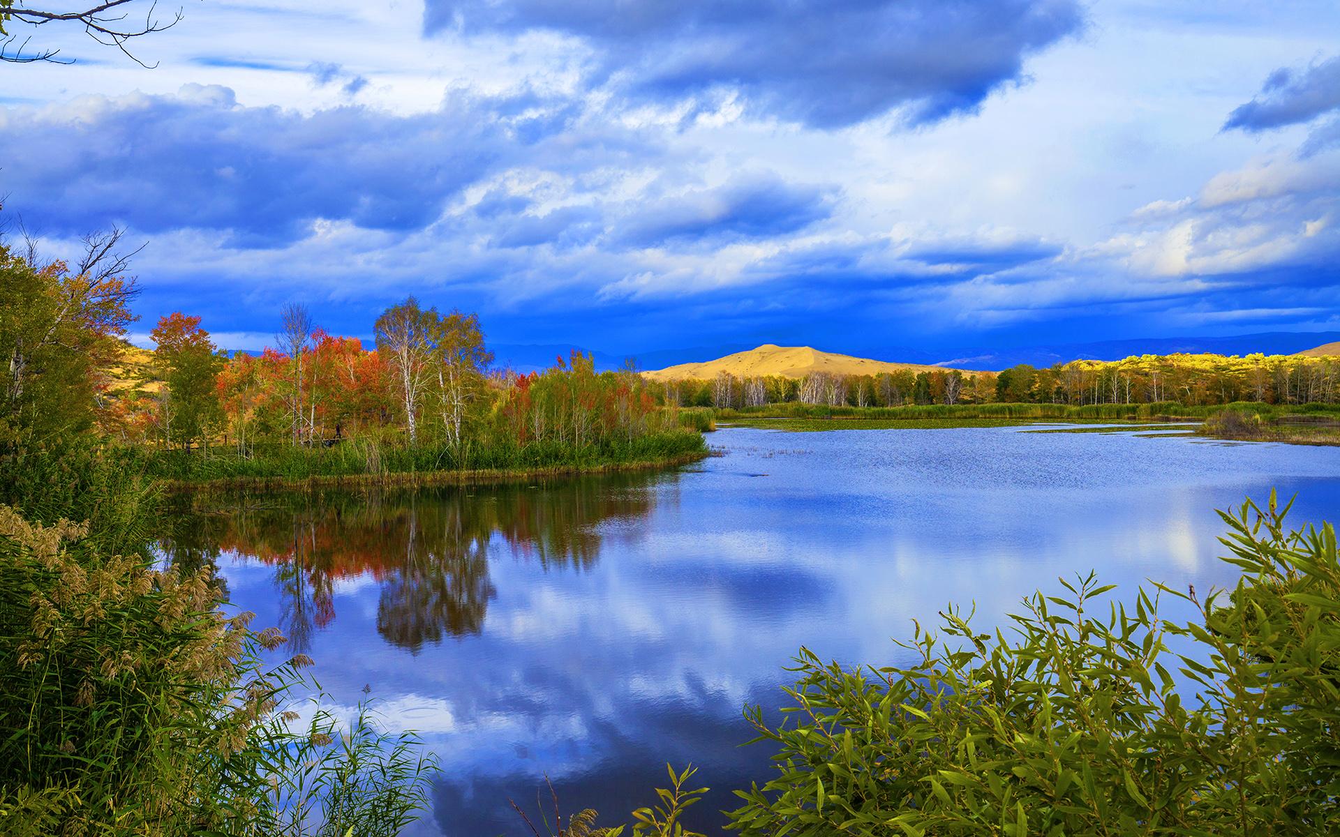 新疆白沙湖自然风景高清图片壁纸(1/6)