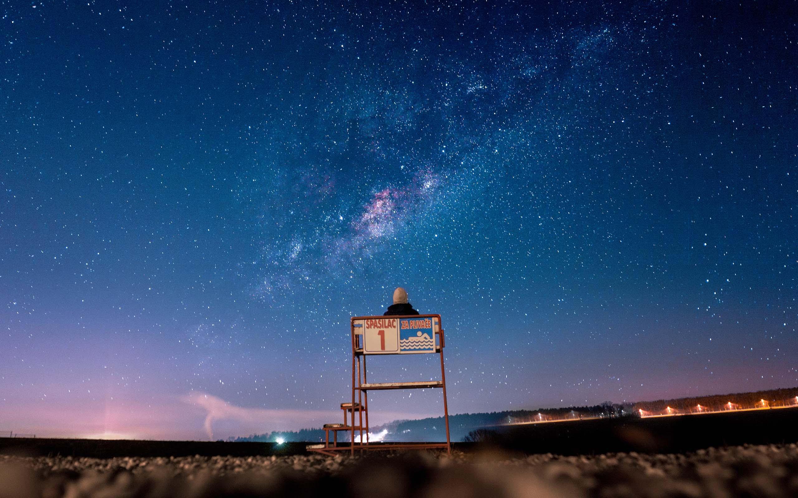 唯美星空夜景图片高清电脑桌面壁纸 桌面壁纸 Mm4000图片大全